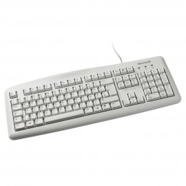 Clavier bureautique Microsoft Wired Keyboard 200 Blanc for Business