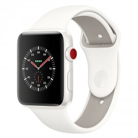 Apple Watch Edition Series 3 GPS + Cellular Céramique Blanc Sport Coton 42 mm MQM52ZD/A
