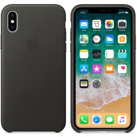 Apple Coque en cuir Gris Anthracite Apple iPhone X 0190198522894