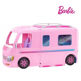 Barbie Mobilier Camping-Car Transformable pour poupées