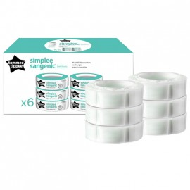 Tommee Tippee Sangenic Recharge Simplee x6 5010415703750